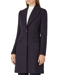 Reiss Tamara Tailored Coat Night Navy