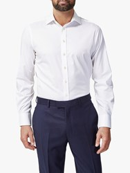 Chester Barrie By Twill Stretch Shirt White