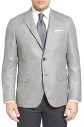 John W. Nordstrom Classic Fit Houndstooth Cashmere Sport Coat Gray