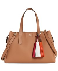 Guess Trudy Girlfriend Large Satchel Tan