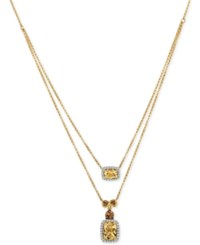Le Vian Chocolatier Papaya Morganite 1 1 2 Ct. T.W. And Diamond 1 5 Ct. T.W. Layered Pendant Necklace In 14K Gold Pink