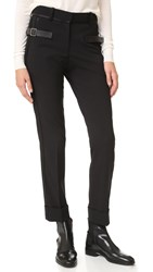 Vera Wang Trouser With Side Buckle Detail Black