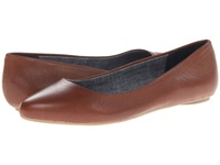 Dr. Scholl's Really Saddle Tan Leather Women's Flat Shoes Brown