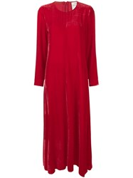 Forte Forte Velvet Long Dress Red
