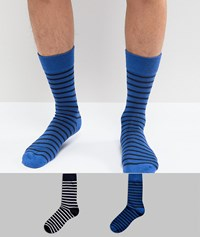 Selected Homme Socks 2 Pack Dark Sapphire Multi
