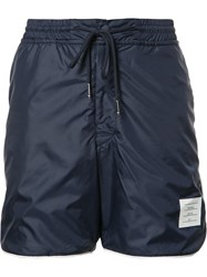 Thom Browne Drawstring Track Shorts Blue