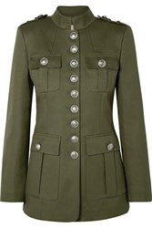 Michael Kors Collection Cotton Twill Jacket Army Green