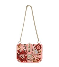 Valentino Small Embroidered Rockstud Bag Female Pink