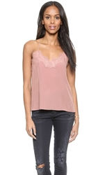One By Cami Nyc Lace Racer Camisole Rose