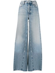 Mother Enchanter High Rise Wide Leg Jeans 60