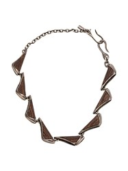 Tobias Wistisen Multi Plate Necklace Brown