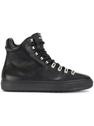 Dsquared2 Tennis Club Sneakers Men Leather Rubber 44 Black