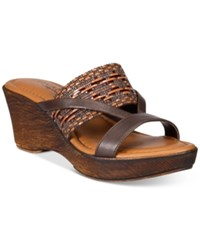 Easy Street Shoes Tuscany Rachele Sandals Women's Brown Multi