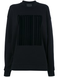 Alexander Wang Oversized Hoodie With Patch Women Cotton Spandex Elastane Xs Black