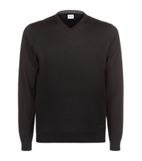 Armani Collezioni V Neck Long Sleeved Jumper Male Black