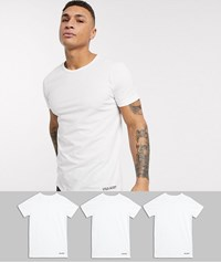 Lyle And Scott 3 Pack Lounge T Shirts In White