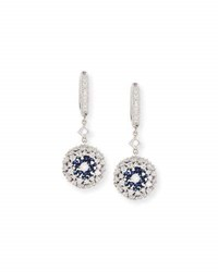Mariani Ponpon Diamond And Blue Sapphire Earrings