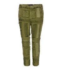 Haider Ackermann Cotton And Linen Trousers Green