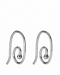 Pandora Design Pandora Earrings Sterling Silver Medium Smooth French Wire