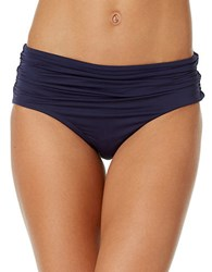 Anne Cole Live In Colorhi Waist Shirred Swim Bottom Navy