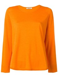 Lamberto Losani Round Neck Jumper Yellow Orange