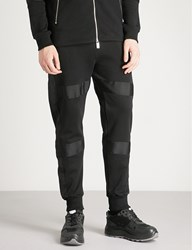 Blood Brother Bungie Panelled Cotton Jersey Jogging Bottoms Black