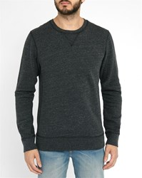 Scotch And Soda Charcoal Contrasting Embroidery Sweatshirt Grey