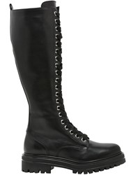 Janetandjanet 30Mm Leather Lace Up Boots