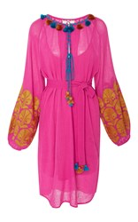 Figue Coco Embroidered Dress Pink
