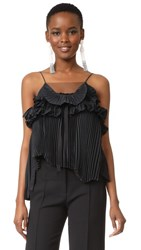 Rochas Sleeveless Blouse Black