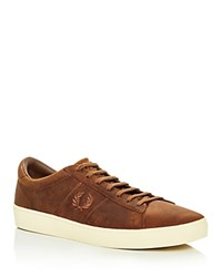 Fred Perry Spencer Lace Up Sneakers Oak Tan