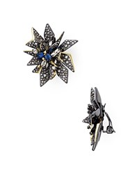 Alexis Bittar Two Tone Perennial Punk Clip On Earrings Silver Gold
