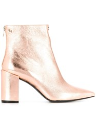 Zadig And Voltaire Glimmer Crush Ankle Boots Gold