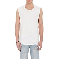 Ksubi Men's Phobia Linen Cotton Muscle Tank White