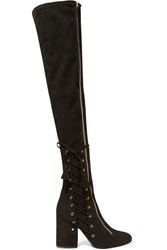 Laurence Dacade Maren Stretch Suede Over The Knee Boots Black