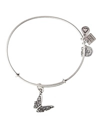 Alex And Ani Butterfly Expandable Wire Bangle Charity By Design Collection Rafaelian Silver