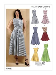 Vogue Easy Options 'S Dress Sewing Pattern 9357