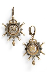 Alexander Mcqueen Women's Medallion Drop Earrings