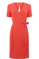 Oasis Wrap Dress Coral