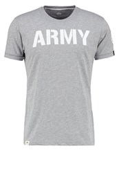 Alpha Industries Print Tshirt Grey Heather Light Grey