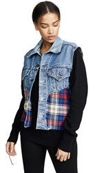 Harvey Faircloth Cutoff Denim Jacket Blu