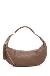 Christopher Kon Leather Hobo Beige