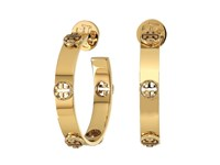 Tory Burch Pearl Stud Earring Coral Tory Gold