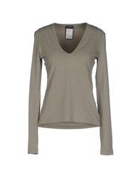 Richmond Denim Topwear T Shirts Women Military Green