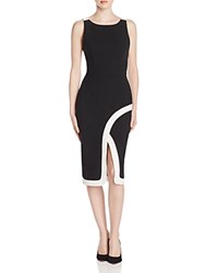 Black Halo Fatima Color Block Sheath Dress Black Porcelain