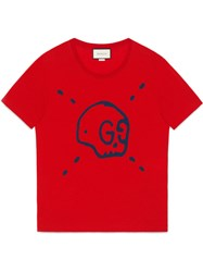 Guccighost T Shirt Men Cotton L Red