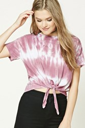 Forever 21 Knotted Tie Dye Boxy Tee