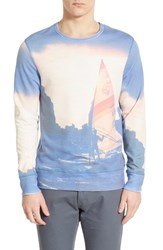 Men's Sol Angeles 'Sea To Sail' Print Crewneck Sweatshirt