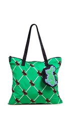 Tory Sport Rabbit Packable Tote Green Multi