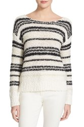 Veronica Beard 'Cahuilla' Textured Bateau Neck Sweater Multi
